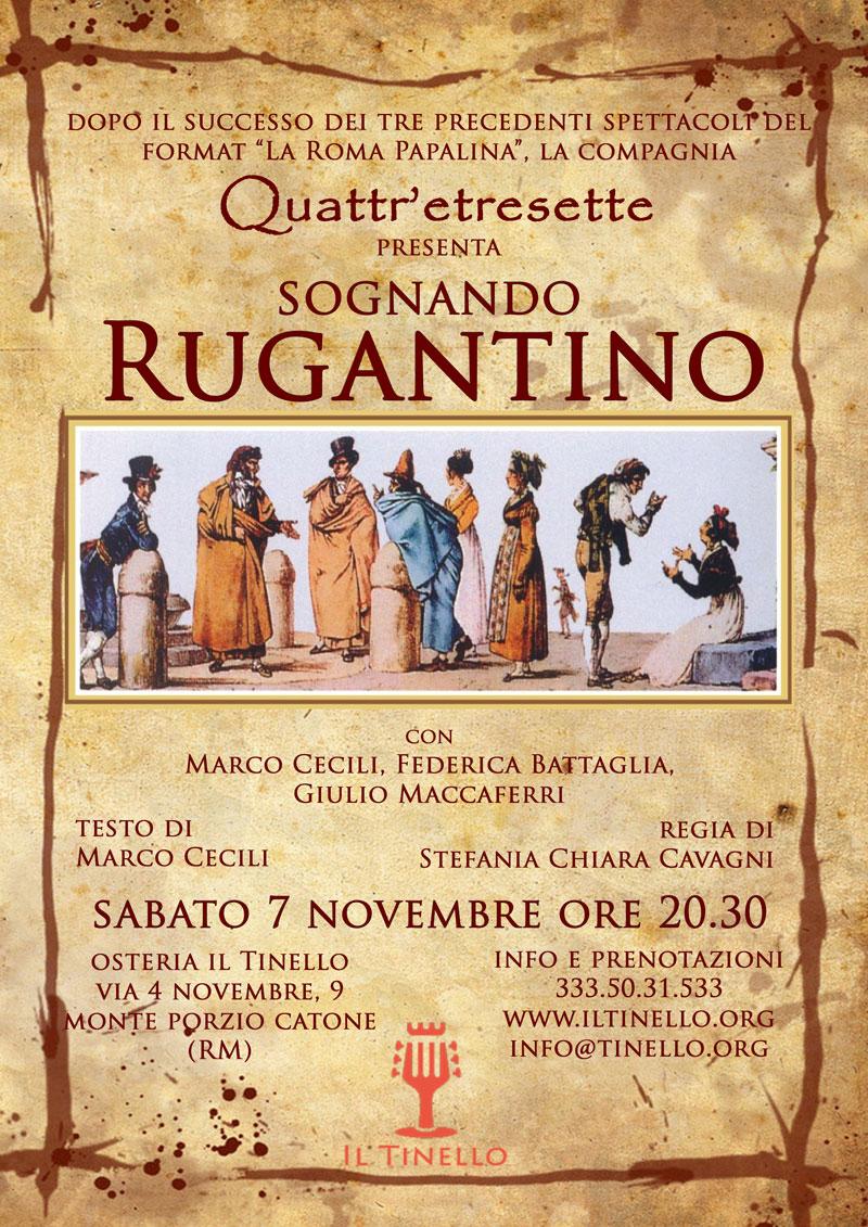 """Coming Soon: 7 novembre """"Sognando Rugantino"""" presso ilTinello"""