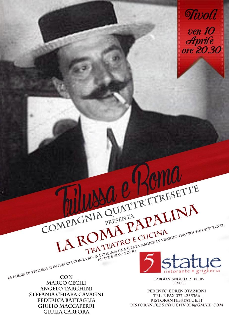 Coming Soon: venerdì 10 aprile la Roma Papalina al5Statue!