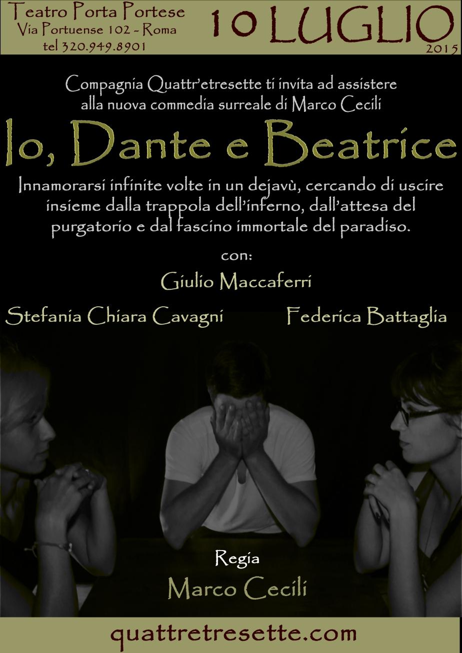 """Coming Soon: 10 luglio """"Io, Dante e Beatrice"""" al Teatro PortaPortese"""