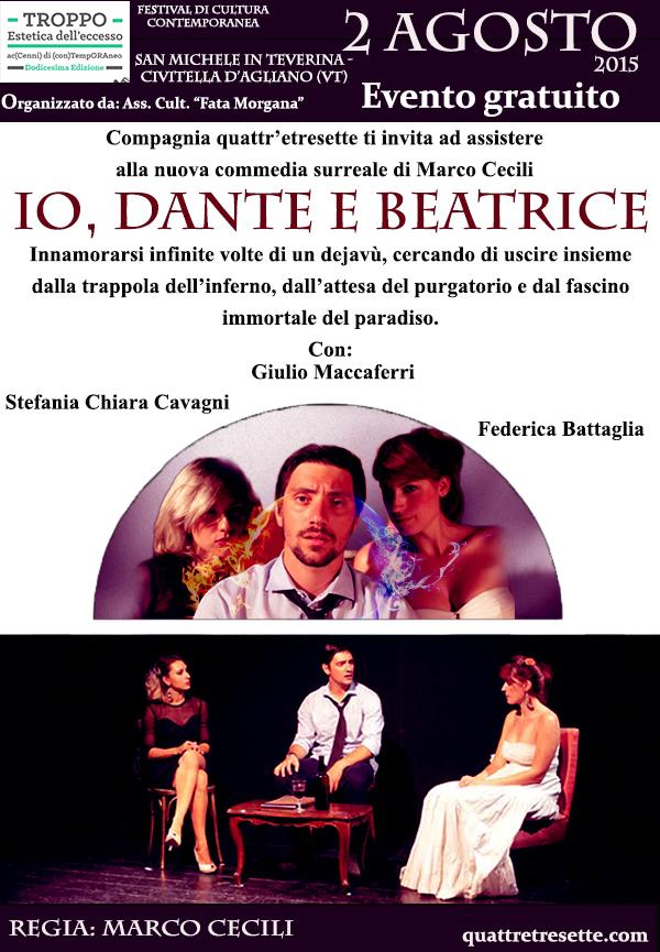 """Coming Soon: 2 agosto """"Io, Dante e Beatrice"""" al Festival (ac)Cenni di(con)TempORAneo"""
